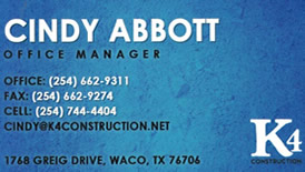 Cindy Abbott - K4 Construction