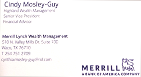 Cindy Mosely-Guy - Merrill Lynch Wealth Management