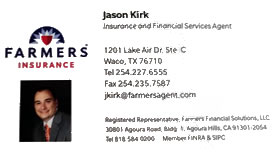 Jason Kirk - Farmer's Insurance Waco, Texas