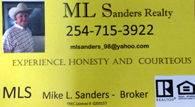 Mike Sanders - Gentry Real Estate - Robinson, Texas
