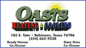 Oasis Heating & Cooling - Robinson, Texas