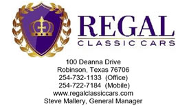 Regal Classic Cars - Robinson, Texas