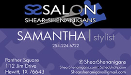 Salon Shear Shennanigans - Samantha, Stylist